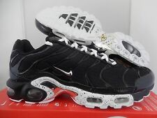 NIKE AIR MAX PLUS BLACK-CHROME-BLACK SZ 10 [604133-091]