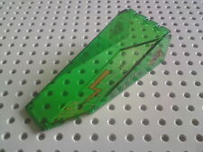 Lego Canopies Sloped Wedge 4x10x2&1/3 with Alien Print - Green x1