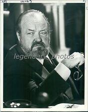 1984 William Conrad in Nero Wolfe Original News Service Photo