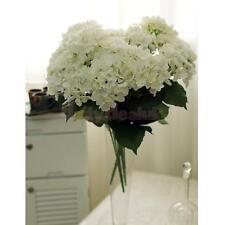 Artificial Silk Flower 7-Heads Hydrangea Bouquet Wedding Home Decor White