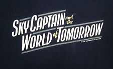 SKY CAPTAIN WORLD TOMORROW film med T shirt 2004 sci-fi movie logo tee OG