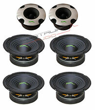 "XPL KIT - 2x TWEETER bullet XTW2501 4x WOOFER XW06-02 165mm 6,5"" 600W  SPL Auto"
