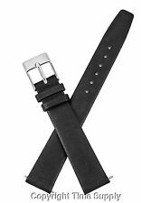 16mm BLACK CALF LEATHER WATCHBAND WITH SPRING BARS