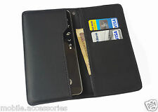 High Quality Wallet Case Cover Pouch for Intex Aqua Ace Mini - Black