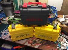 Invicta 8 Slot Impact Dive Storage Collector Waterproof Watch Case x3 Yellow Gre