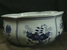 Antique Comte d'Artois France Porcelain Handcrafted Blue floral Jardiniere