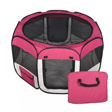 New Medium Pet Dog Cat Tent Playpen Exercise Play Pen Soft Crate T8 Burgundy