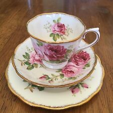 ROYAL ALBERT American Beauty Doris Shape Trio Cup Saucer Side Plate