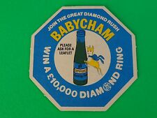 Collectible Beer Coaster: Join the Great Diamond Rush ~ BABYCHAM Sparkling Perry