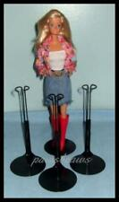 3 BLACK Kaiser Doll Stands for  BARBIE Fashion Royalty Misaki