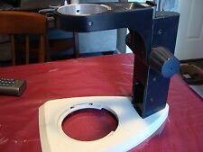 "Leica microscope stand very good condition 3"" I.D. mount"