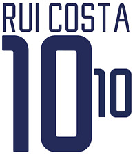 Portugal Rui Costa Nameset 2002 Shirt Soccer Number Letter Heat Print Football A