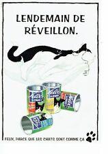PUBLICITE ADVERTISING 0217  1993    Felix de Fido  aliment pour chat *