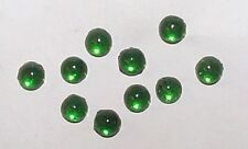 VINTAGE EMERALD GLASS FLAT BACK CABOCHON STONES 25 PIECE-GREEN-