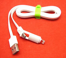 2 en 1 cable de datos cable de carga micro USB Nokia y Sony ipad 4 ipad mini 2 3 iPad Air 2