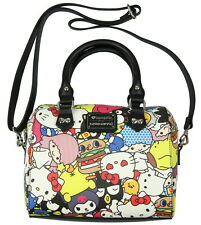 Hello Kitty Sanrio Charactor Allover Print Character Crossbody Bag Purse