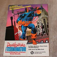 Deathstroke Terminator #1 1991 MIKE ZECK Teen Titans Tv Arrow DC PROMO Poster VF