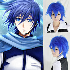 Hot VOCALOID Kaito Short royalblue Anime Costume Cosplay Party Wig+Hairnet