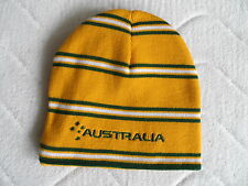 AUSTRALIA GOLD RUGBY BEANIE HAT Tags OSFA Unisex RWC Adult Tuque Toque