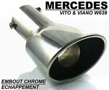 SINGLE CHROME EXHAUST TIP TAIL PIPE MUFFLER MERCEDES W639 VITO & VIANO 2003-2014