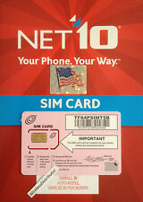 Net10 SIM CARD / Unlimited T-Mobile SIM CARD $35 Mo. WITHOUT CONTRACT / NET10