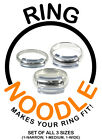 RING NOODLE- Ring Guard, Ring Size Reducer - 3 pack (1-narrow, 1-medium, 1-wide)