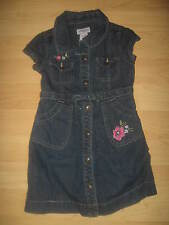 Genuine Kids By OshKosh Osh Kosh Girl's Embroidered Flowers Blue Denim Dress 4T