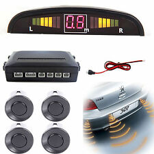 Light Gray Reversing Parking Sensor Car 4 Sensors Audio Buzzer Alarm
