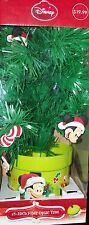 Disney 18 inch Mickey Mouse Fiber Optic Christmas Tree Color Changing Tips NIB