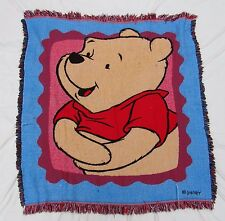 Beacon Disney Winnie The Pooh Bear Tapestry Throw Blanket Afghan Fringe Woven