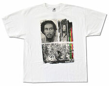 BOB MARLEY - THREE PHOTOS WHITE T-SHIRT NEW OFFICIAL ADULT 2XL XXL