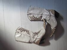 REAL LEATHER COWBOY WESTERN BOOTS SHOES SIZE 5