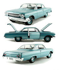 Maisto 1/18 Scale 1962 Chevy Bel Air Coupe Blue Diecast Car Model 31641