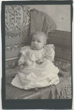 CABINET CARD, ALLEGHENY PA. MERCER STUDIOS. VERY STARTLED BABY.
