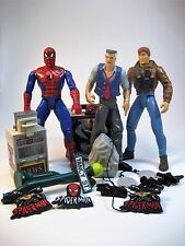Spider-Man Animated Series & J. Jonah Jameson & Peter Parker 3 Figure Lot ToyBiz