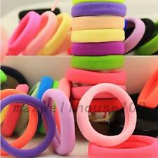 50pcs Girl Elastic Hair Accessories Ties Band Rope Ponytail Bracelets Creative