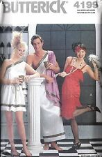 UNCUT Vintage Butterick Sewing Pattern Misses Men Greek God Costume Flapper 4199