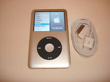 APPLE  IPOD  CLASSIC  6TH GEN.  CUSTOM  SILVER  80GB...NEW  BATTERY...