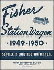 1949-1950 Station Wagon Body Shop Manual Chevrolet Oldsmobile Pontiac Olds Chevy