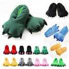 New Unisex Monster Feet Slippers Cartoon Animal Warm Plush Paw Shoes Adult Kids