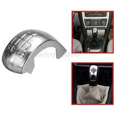 Chrome 5 Speed Gear Shift Stick Knob Cap Cover Decal Trim For Skoda Octavia MK2