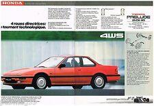 Publicité Advertising 1988 (2 pages) Honda Prélude 2.0 16 S