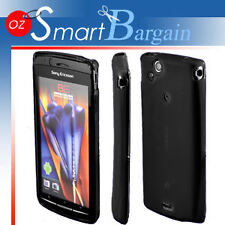 BLACK Soft Gel Case For SONY ERICSSON XPERIA ARC X12