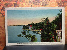 Napoleons Hat Hay Island Thousand Is St Lawrence River Vintage Postcard Unposted