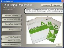 2016/2015 UK Building Regulations Regs CD. Includes DIY Help & Guides