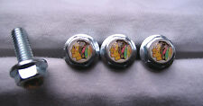 Chicago Blackhawks License Plates Screws, Chicago Blackhawks Logo Plate Screws