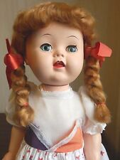 "SUSAN STROLLER 16"" 1950s EEGEE Hard Plastic Walker Doll All Original Crier Works"