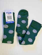 2 Pair NOS Vtg '90' Twin City Volleyball Motif Socks White Green Adult 8-10