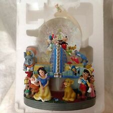 RARE Disney's Mickey Aladdin Princess California Adventure Musical SnowGlobe-MIB