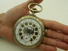 antico orologio da tasca funziona REGULATEUR 70 MM pocket watch working
